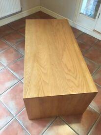 Solid Oak Coffee Table - Chunky Oak Style