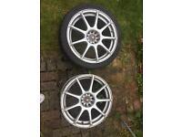 2x18 inch multi fitment alloy wheels