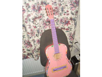 PINK and old ACOUSTIC GUITARS