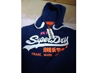 Superdry XS supermarine Navy Hoodie New with tags