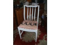 Upcycled painted chairs