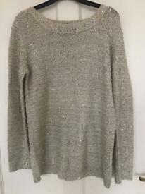 Beautiful sparkly neutral jumper
