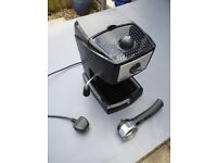 DeLonghi coffee machine EC152.CD with milk frother hardly used unwanted gift coffee maker