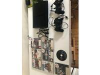 PS3 Super Slim 500gb, 2 controllers, 8 games