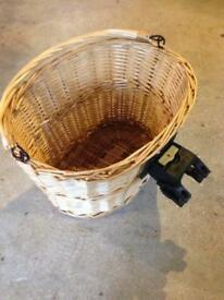 Wicker basket for bike bicycle