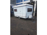 folding caravan 4 berth fold up trailer great for small space camping