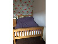 Small 4' Pine Double Bed
