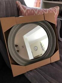 *Reserved* Small Grey Mirror