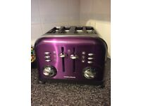 Morphy Richards Plum Kettle and Toaster