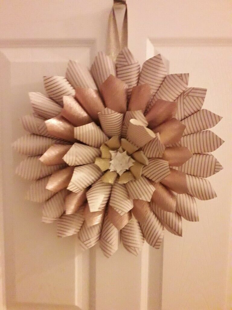 15 Diameter Handmade Paper Wreath Ideal As A Christmas Decoration In Olney Buckinghamshire Gumtree