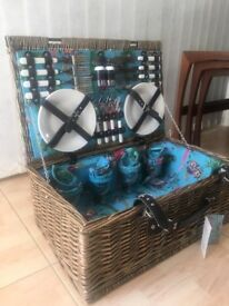 M&S wicker summer picnic basket NEW