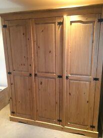 Three door wardrobe