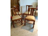 4 vintage dining room chairs