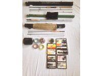 Fishing Diawa era slr 9' 6 fly rod Greys gts 700 fly reel and lots more