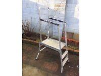 3 Steps work platform folding Ladder £10 ONO