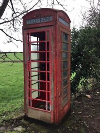 Telephone box old coin operated