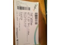 1 weeknd general admission standing ticket