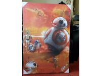 Large Brand New StarWars The Force Awakens Canvas 60x90cm