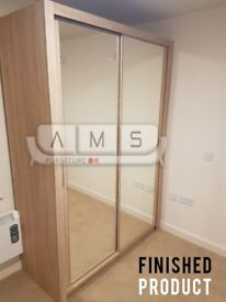 Brand New 2 or 3 Door Stylish Sliding Wardrobe with Full Mirror Doors, Shelves and Hanging Rails