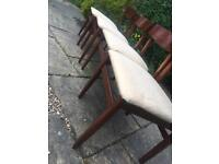 Vintage 1960 TEAK dining chairs x4