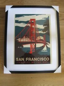 NEW MOUNTED AND FRAMED POSTER 'SAN FRANCISCO'.