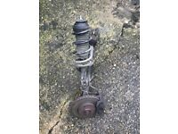 Vauxhall Corsa d 2008 1.3 cdti z13dtj complete drivers suspension leg with hub vgc 07594-145438