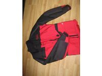 MOTORBIKE SCOTT LEATHERS PADDED JACKET (SIZE MEDIUM).