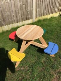 Wooden picnic table - children's