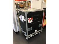 Large flight case on wheels
