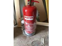 9lt water fire extinguishers x 4