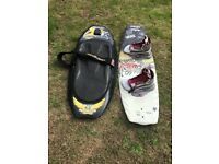 Wakeboard including Boots & Bindings and Kneeboard For Sale