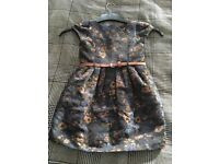 Girls Next navy dress with glitter belt, 4 yrs
