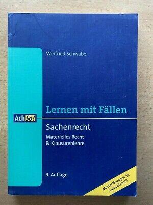 LERNEN mit FÄLLEN Schwabe SACHENRECHT Recht Musterlösungen Klausuren 9. Auflage