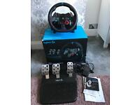 LOGITECH G29 Steering wheel and pedal set PS4