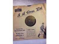 7 Old Vinyl Records various artists Gracie Fields, Josef Locke, Nat King Cole, Bing Crosby