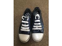 Size 2 M&S sparkly Converse style shoes