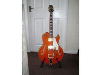 Shine NO675 semi accoustic guitar with hardcase