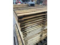 New Wooden Pressure Treated Garden Fence Panels