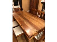 Maharani Dining Room Table and Chairs (x6)