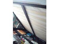 King size storage bed frame + memory foam mattress