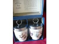 Royal Worcester bone china bramble design egg coddlers