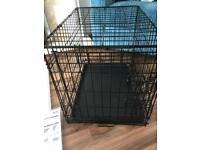 Xs single door folding dog crate / cage
