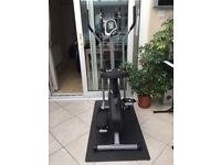 Gym Time Cross Trainer Full Adjustable With Seat And Floor Matt Ex Condition.