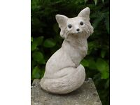 Nice Sitting Fox Cast Stone Garden Ornament Garden Statue
