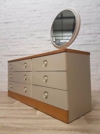 Stag Nocturne Chest Of Drawers With Mirror (DELIVERY AVAILABLE FOR THIS ITEM OF FURNITURE)