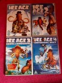 ice age dvds. 1-4.