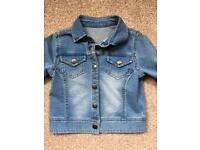 Cute soft denim jacket 3-4yrs from mothercare