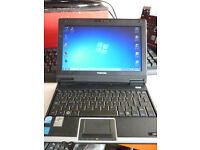 Toshiba NB100 Ultra Portable Laptop/Netbook High Spec Very Usable WIN 7