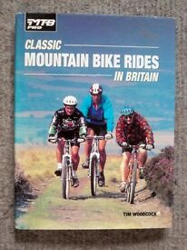 Classic Mountain Bike Routes in Britain - a hardback book by Tim Woodcock