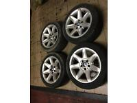 """Bmw E39. 17"""". Alloy wheels with tyres. Taken from bmw 5 series. Tyres 235/45/zr17. Style 81"""
